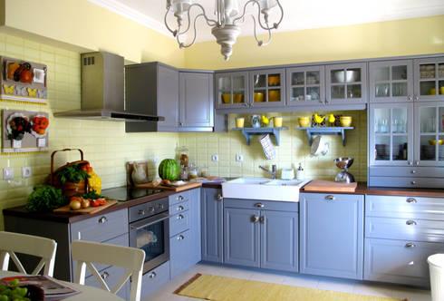 Cozinha: Cozinhas campestres por Rafaela Fraga Brás Design de Interiores & Homestyling