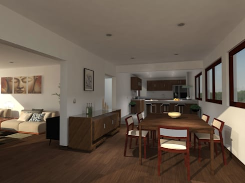 Casa Gama: Comedores de estilo moderno por Vibra Arquitectura
