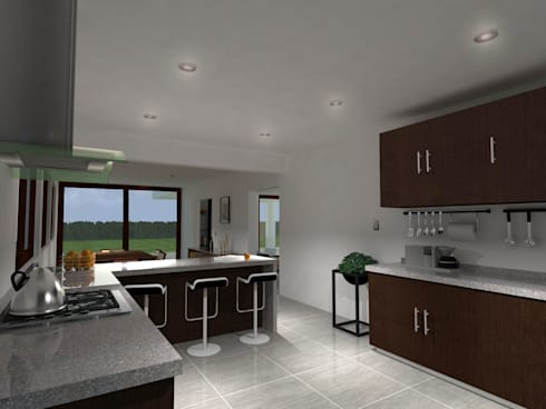 Casa Gama: Cocinas de estilo moderno por Vibra Arquitectura