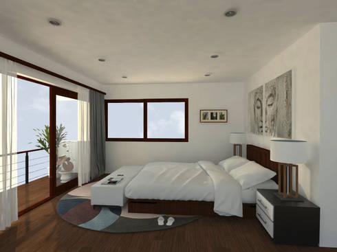 Casa Gama: Dormitorios de estilo moderno por Vibra Arquitectura