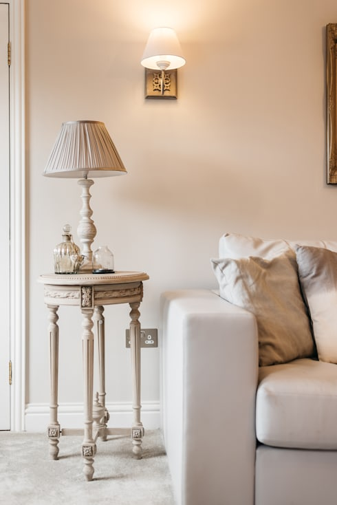 French Shabby Chic Living Room:  Living room by Katie Malik Interiors