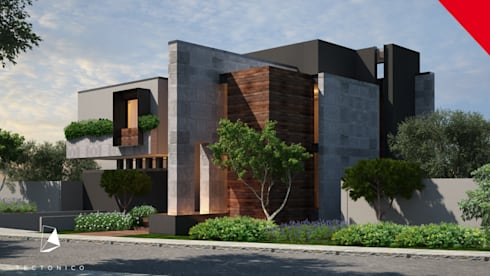 Casa Guadalajara: Casas de estilo ecléctico por Tectónico