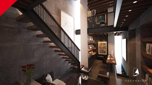 Casa Guadalajara: Estudios y oficinas de estilo ecléctico por Tectónico