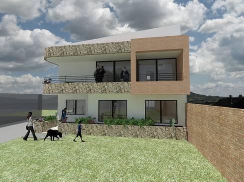 AMPLIACION CASA UNIFAMILIAR BELLAVISTA : Casas de estilo moderno por MODOS Arquitectura