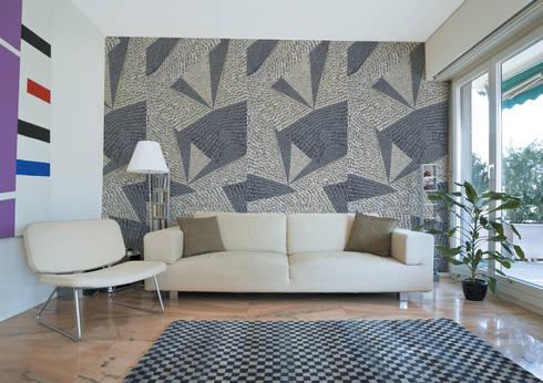 Calçada Portuguesa Tangram 1: Parede e piso  por OH Wallpaper