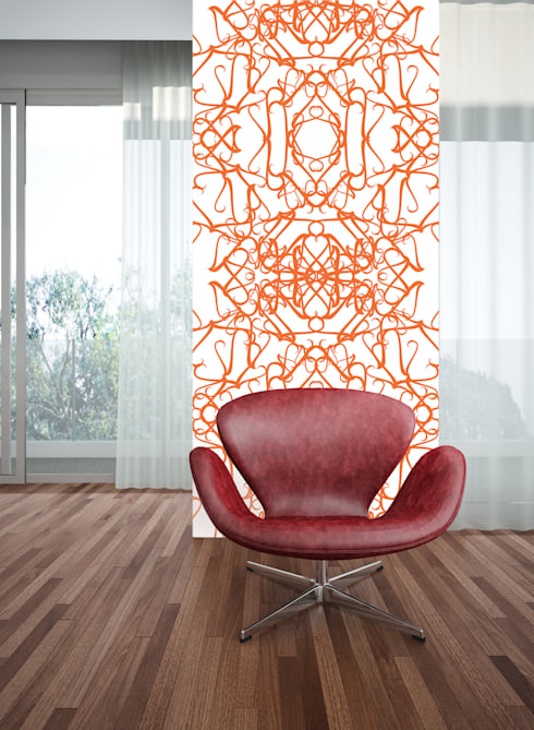 Filigrana Coral: Parede e piso  por OH Wallpaper