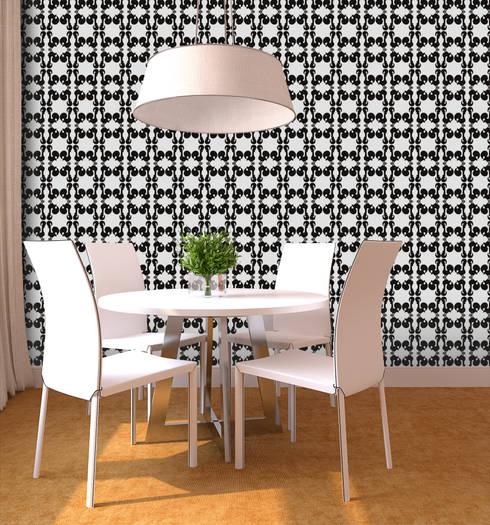 Galo Preto: Parede e piso  por OH Wallpaper