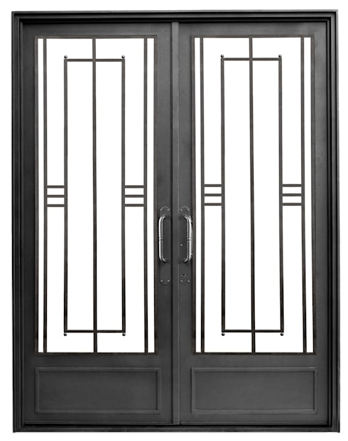 Puertas de entrada modernas de del hierro design homify Puertas de metal para interiores