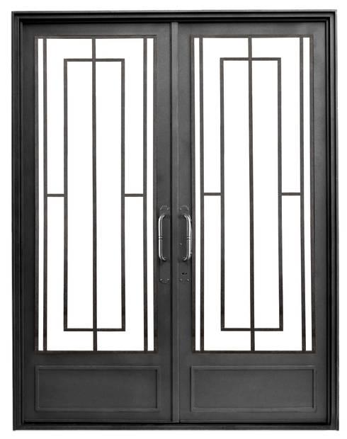 Puertas de entrada modernas de del hierro design homify for Modelos de puertas de hierro con vidrio