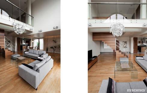 Projekt wnętrz domu w Lędzinach : styl , w kategorii Salon zaprojektowany przez Mono architektura wnętrz Katowice