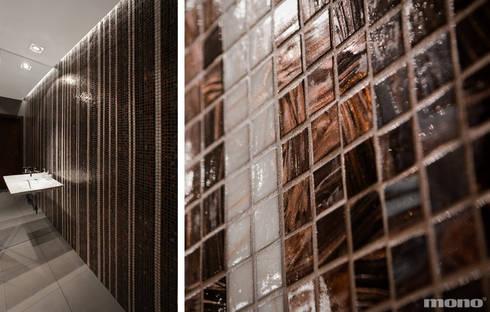 Projekt wnętrz domu w Lędzinach : styl , w kategorii Łazienka zaprojektowany przez Mono architektura wnętrz Katowice