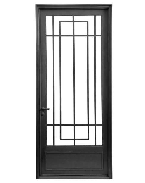 Puerta de entrada rustica moderna de del hierro design for Puertas de hierro modernas para exterior