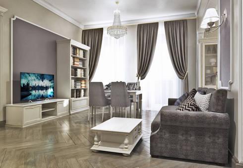 Гостиная: Гостиная в . Автор –  Pure Design