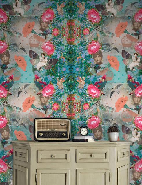 Mariana Rosa: Parede e piso  por OH Wallpaper