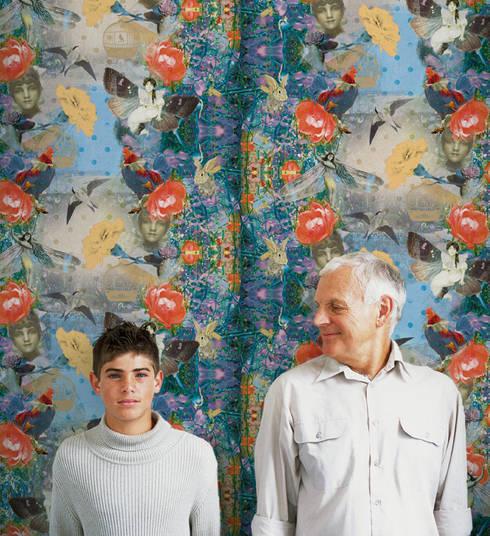 Mariana Azul: Parede e piso  por OH Wallpaper
