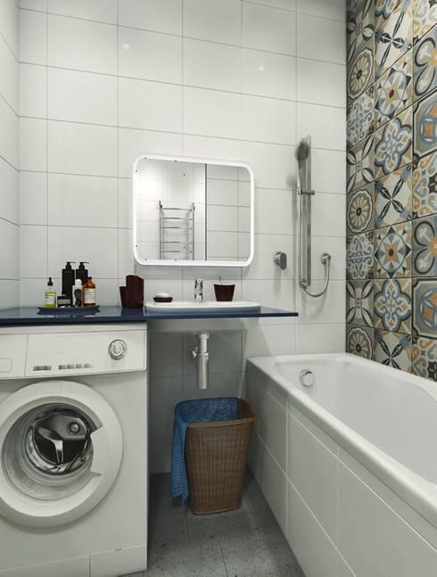 Вид на умывальник: Ванные комнаты в . Автор –  Pure Design