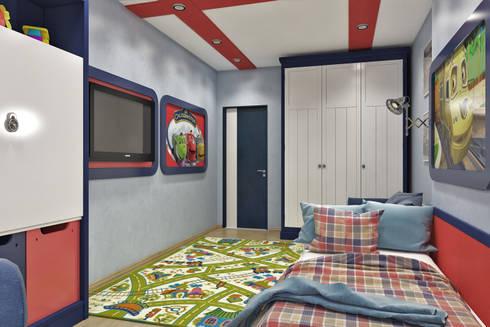 Вид на вход: Детские комнаты в . Автор –  Pure Design
