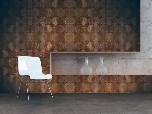 Ouriço de Coral: Parede e piso  por OH Wallpaper