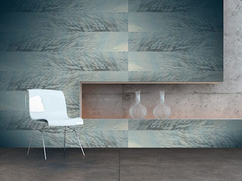Riscas de Peixe: Parede e piso  por OH Wallpaper