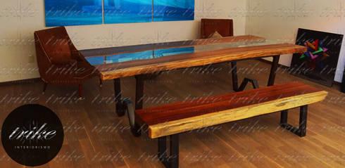Mesas de parota de trike interiorismo homify - Bancas de madera para comedor ...