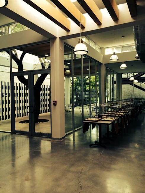 Interior: Restaurantes de estilo  por Apx Taller de Arquitectura