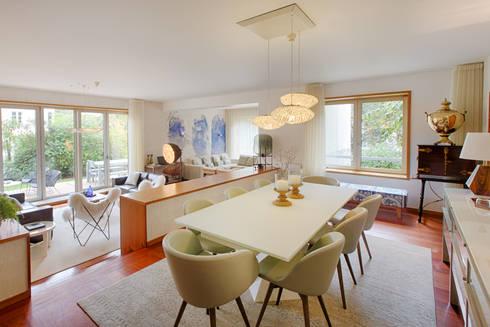 Casa em Leça da Palmeira: Salas de jantar ecléticas por SHI Studio, Sheila Moura Azevedo Interior Design