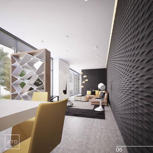 Дом на новой риге: Гостиная в . Автор – ATO Studio