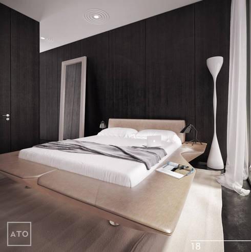 Дом на новой риге: Спальни в . Автор – ATO Studio