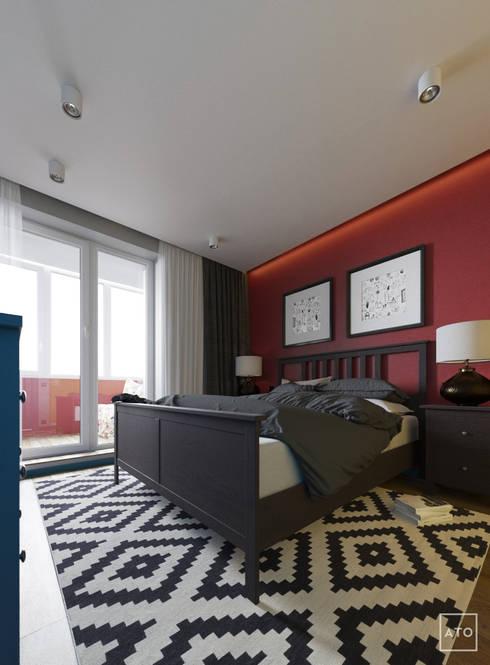 Квартира в балашихе: Спальни в . Автор – ATO Studio