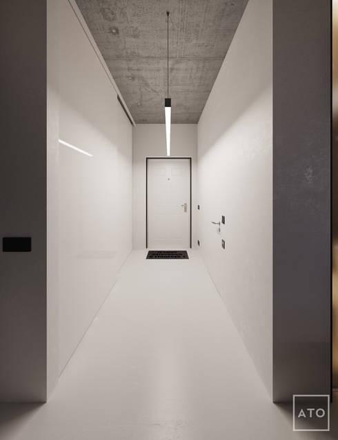 Projekty,  Korytarz, przedpokój zaprojektowane przez ATO Studio