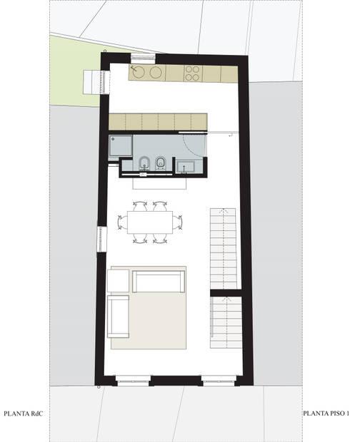 planta 1º andar:   por Ricardo Caetano de Freitas | arquitecto