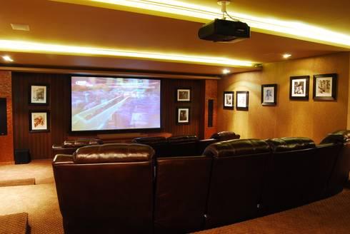 Cinema em casa sim poss vel por mbdesign arquitetura - Sala cinema in casa ...