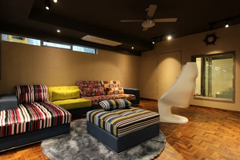 The Den: modern Media room by Mind Studio