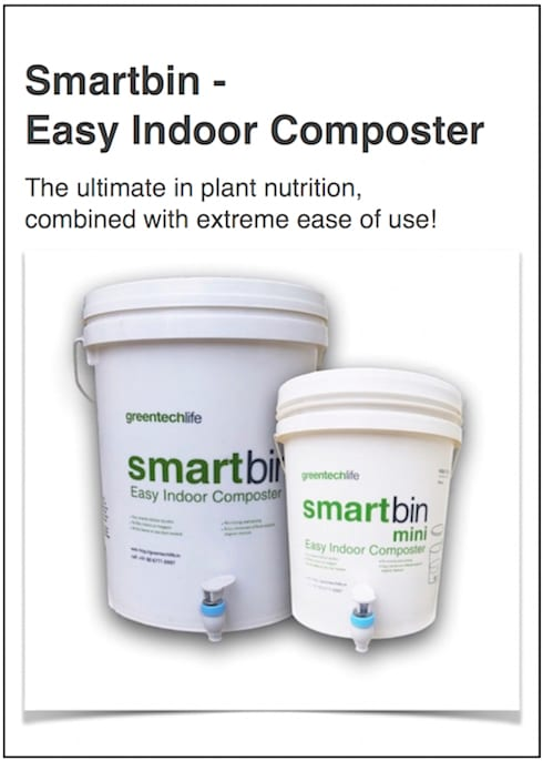 SmartBin- Easy indoor composter (recycle bin): minimalistic Kitchen by GreenTech Life