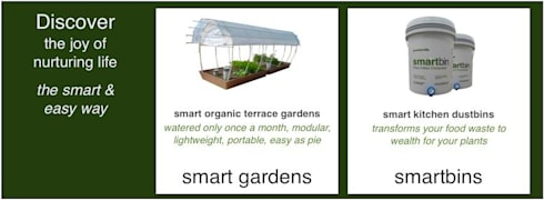 Smartbin- Essential nutrients for your organic garden:  Garden  by GreenTech Life