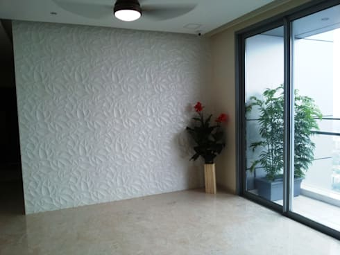 Oberoi Exquisite, Goregaon: modern Living room by J SQUARE - Architectural Studio