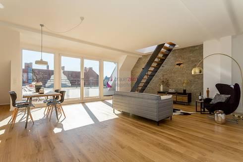 home staging einer dachgeschoss wohnung im loft stil von staged homes homify. Black Bedroom Furniture Sets. Home Design Ideas