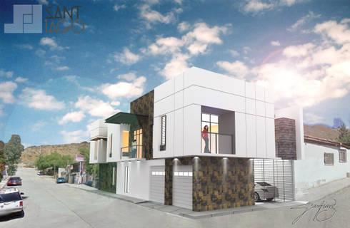 Fachada Principal: Casas de estilo minimalista por SANT1AGO arquitectura y diseño