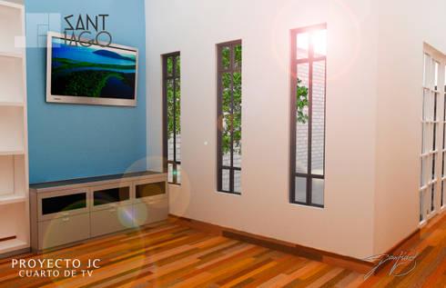 Proyecto Jc: Salas multimedia de estilo minimalista por SANT1AGO arquitectura y diseño