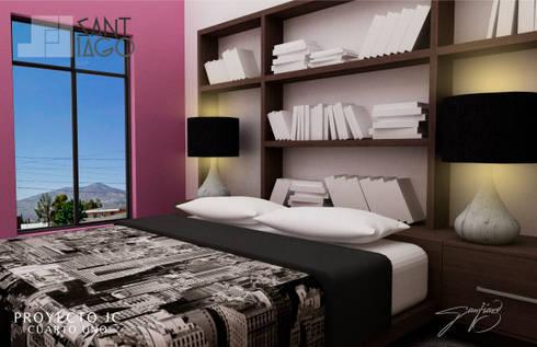 Proyecto Jc: Recámaras de estilo minimalista por SANT1AGO arquitectura y diseño