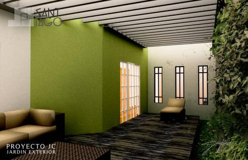 Proyecto Jc: Terrazas de estilo  por SANT1AGO arquitectura y diseño
