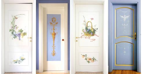 Porte decorate di erica de rosa dipinti affreschi - Decorare le porte ...
