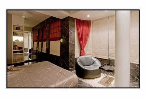 Residence 1: modern Living room by Dynamic Designss