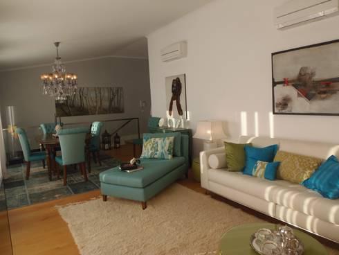 Decoração Caldas: Salas de estar modernas por Obrasdecor