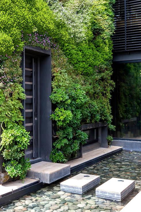 CASA COLINA DEL MIRADOR: Jardines de estilo  por VERDE360
