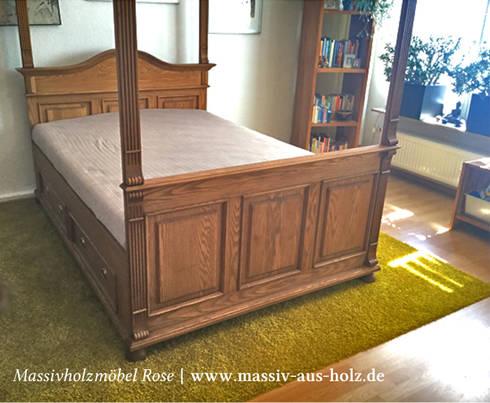 Bett Mit Baldachim In Natur: Rustikale Schlafzimmer Von Massiv Aus Holz