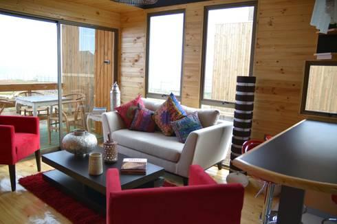 Cabaña Loft San Antonio: Comedores de estilo moderno por EstradaMassera Arquitectura