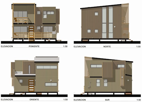 Cabaña Loft San Antonio:  de estilo  por EstradaMassera Arquitectura