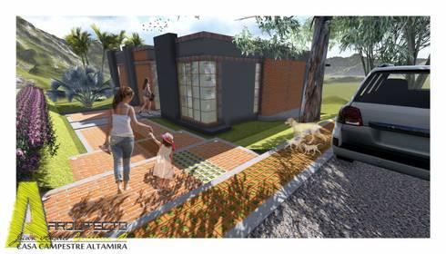 CASA ALTAMIRA: Casas de estilo rústico por ARQUITECTO JUAN ANDRES GUTIERREZ PEREZ