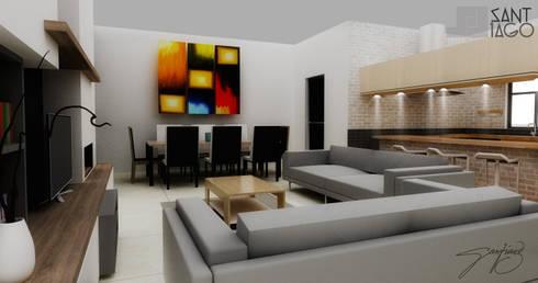 J-Gles: Salas multimedia de estilo minimalista por SANT1AGO arquitectura y diseño